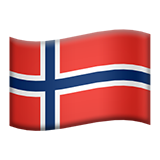 Flag: Norway on Apple iOS 9.3