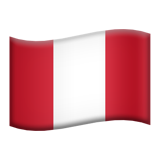 Flag: Peru on Apple iOS 9.3