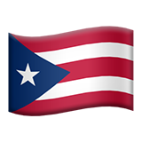 Flag: Puerto Rico on Apple iOS 9.3