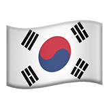Flag: South Korea on Apple iOS 9.3
