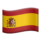 Flag: Spain on Apple iOS 9.3