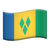 Flag: St. Vincent & Grenadines on Apple iOS 9.3
