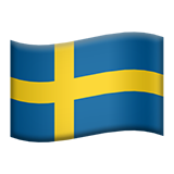 Flag: Sweden on Apple iOS 9.3
