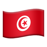 Flag: Tunisia on Apple iOS 9.3