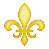 Fleur-de-lis on Apple iOS 9.3