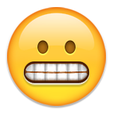 Grimacing Face on Apple iOS 9.3