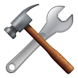 Hammer and Wrench on Apple iOS 9.3