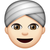 Person Wearing Turban: Light Skin Tone on Apple iOS 9.3