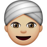 Person Wearing Turban: Medium-Light Skin Tone on Apple iOS 9.3