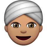 Person Wearing Turban: Medium Skin Tone on Apple iOS 9.3