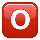 O Button (Blood Type) on Apple iOS 9.3