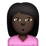 Person Pouting: Dark Skin Tone on Apple iOS 9.3