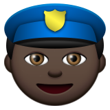 Police Officer: Dark Skin Tone on Apple iOS 9.3