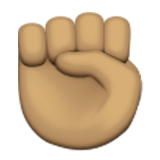 Raised Fist: Medium Skin Tone on Apple iOS 9.3