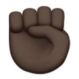 Raised Fist: Dark Skin Tone on Apple iOS 9.3