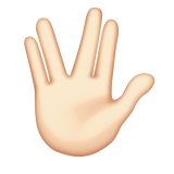 Vulcan Salute: Light Skin Tone on Apple iOS 9.3