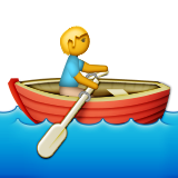 Person Rowing Boat on Apple iOS 9.3