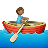Person Rowing Boat: Medium Skin Tone on Apple iOS 9.3