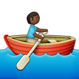 Person Rowing Boat: Medium-Dark Skin Tone on Apple iOS 9.3
