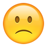 Slightly Frowning Face on Apple iOS 9.3