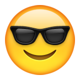 Smiling Face With Sunglasses on Apple iOS 9.3