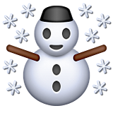Snowman on Apple iOS 9.3