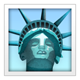 Statue of Liberty on Apple iOS 9.3
