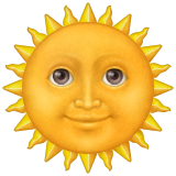 Sun with Face on Apple iOS 9.3