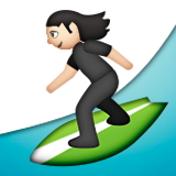 Person Surfing: Light Skin Tone on Apple iOS 9.3