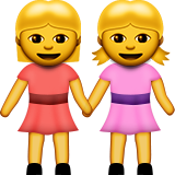 Women Holding Hands on Apple iOS 9.3