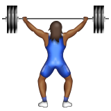 Person Lifting Weights: Medium-Dark Skin Tone on Apple iOS 9.3