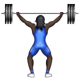 Person Lifting Weights: Dark Skin Tone on Apple iOS 9.3
