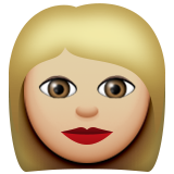 Woman: Medium-Light Skin Tone on Apple iOS 9.3