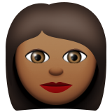 Woman: Medium-Dark Skin Tone on Apple iOS 9.3
