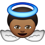 Baby Angel: Medium-Dark Skin Tone on Apple iOS 8.3