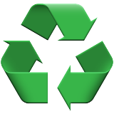Recycling Symbol on Apple iOS 8.3