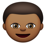 Boy: Medium-Dark Skin Tone on Apple iOS 8.3