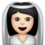Bride With Veil: Light Skin Tone on Apple iOS 8.3