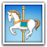 Carousel Horse on Apple iOS 8.3