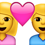 Couple With Heart: Woman, Man on Apple iOS 8.3