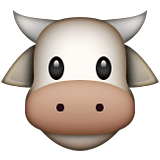 Cow Face on Apple iOS 8.3