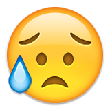 Sad but Relieved Face on Apple iOS 8.3