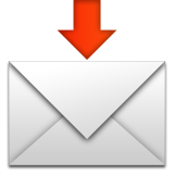 Envelope With Arrow on Apple iOS 8.3