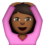 Person Gesturing OK: Medium-Dark Skin Tone on Apple iOS 8.3