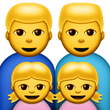 Family: Man, Man, Girl, Girl on Apple iOS 8.3