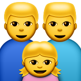 Family: Man, Man, Girl on Apple iOS 8.3