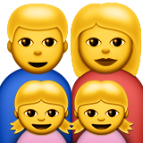 Family: Man, Woman, Girl, Girl on Apple iOS 8.3