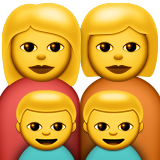 Family: Woman, Woman, Boy, Boy on Apple iOS 8.3