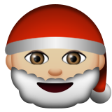 Santa Claus: Medium-Light Skin Tone on Apple iOS 8.3