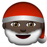 Santa Claus: Dark Skin Tone on Apple iOS 8.3
